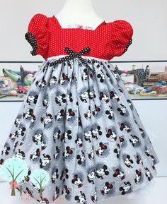 Minnie  Mickey Character Twirl Dress - Retro Minnie Mouse - Disney Trip - Birthday Party - Pageant - Custom Boutique Children Sizes
