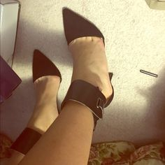 Zara black pumps with ankle strap. Only worn twice. These pumps are gorgeous and goes with most outfits! Zara Shoes Heels