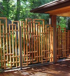 Fence Ideas Bamboo Average Cost Of Front Yard Fence.Wooden Fence Near Me. Garden Privacy, Backyard Privacy, Backyard Fences, Backyard Landscaping, Outdoor Privacy, Garden Fencing, Curved Pergola, Pergola Ideas