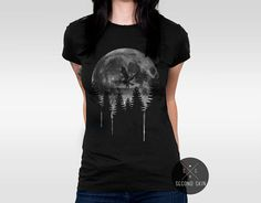 Moon spirit  Screen printed Women's T-shirt. Available in XS,S,M,L,XL sizes.