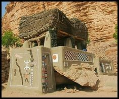 Dogon home near Bandiagara, Mali, Africa