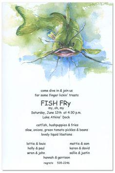 Fish Fry Invitation | Fish fry, Fish and Menu
