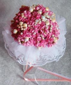 Ramo de novia vintage realizado con perlas