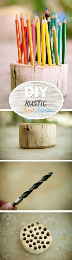 Check out how to make an easy DIY rustic pencil holder @istandarddesign
