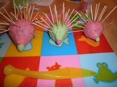 Play dough hedgehogs  NOTE to originator of this board. Would you kindly invite me to join this board?  I have 1100 followers and similar interests.  • • •  Thanks. @Linda Bruinenberg Welker