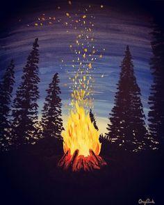Campfire, acrylic