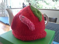 Apple and the worm tea cozy
