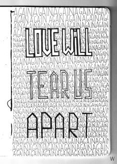 Joy division - Love will tear us apart  #handlettering #lettering #typography