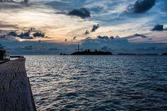 Enjoying the sunset view on Tiger Island