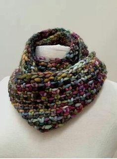 Linen stitch cowl, free pattern, Ravelry