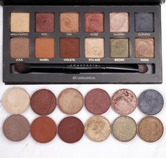 Master palette by Mario dupes with Makeup Geek eyeshadows - Pictures and swatches | Futilities and More