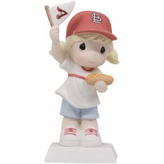 Precious Moments St. Louis Cardinals Girl Fan-Tastic Day Figurine #Fanatics