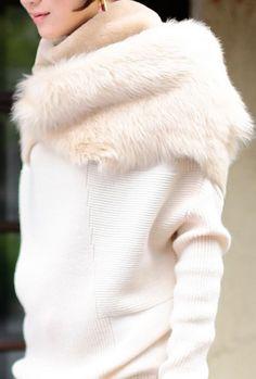 Toscana sheepskin shearling scarf wrap cowle stole by ShamrockArts