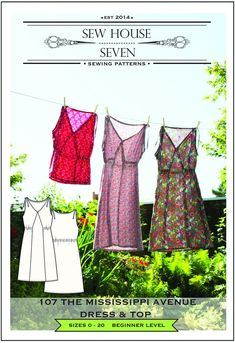 The Mississippi Avenue Dress & Top Sewing Pattern – Sew House Seven