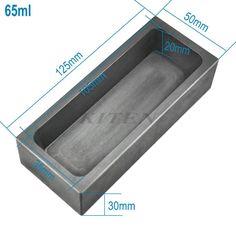65 ML Refinación de Alta Pureza De Grafito De Fundición Molde de Fundición De Lingotes de Oro de Metal de Plata