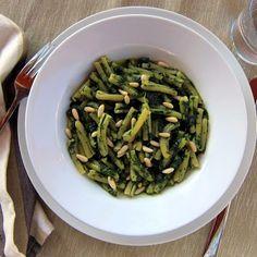 pressure cooker pasta with spinach pesto