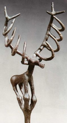 Hittite, bronze ceremonial symbol, Alacahöyük 2200-2000 BC, Museum of Anatolian Civilisations, Ankara *This would be a cool gift to give someone with a liking for deer and a bunch of jewelry. Weird that this thought came to my mind but that's why I picked this picture*