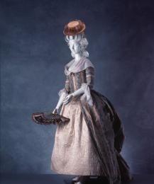 91/193 Day dress, robe a la polonaise, women's, silk, Europe, 1765-1780 - Powerhouse Museum Collection