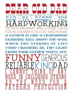 FREE PRINTABLE:  Father's Day Subway Art *REVISION POSTED*