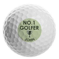 Personalised Golf Ball - No.1 Golfer Personalized Pencils, Personalized Wine, Personalised Christmas Tree Decorations, Gifts For Sports Fans, Special Symbols, Be My Bridesmaid Cards, Team Bride, Golf Ball, Great Gifts