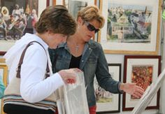 From glass, to prints, to oils, to jewelry, to wood, ceramics, textiles.... truly, something for everyone.