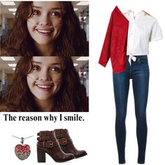 Emma Decody - Bates motel by shadyannon on Polyvore featuring Nobody Denim, Steven by Steve Madden and Lord & Taylor