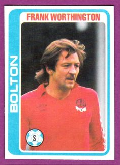 TOPPS 1979 FOOTBALLERS #017-Bolton Wanderers-Frank Worthington - £1.99. This card is from The TOPPS PALE BLUE BACK 1979 Collection. There are 396 cards in the set. Condition-EXCELLENT-Crease free-see scan. The front has the players photo,team,position & name. The reverse has the players Profile,Career record,name,position,team & Quiz. P&P UK 95p.Europe £1.70.Non EU £2.50. Same price for one item or multiple orders,dependent on requesting an invoice on completion of purchasing. Powered by eBay Tu Frank Worthington, Bolton Wanderers Fc, Sam Allardyce, Player Card, Blue Back, Burnley, Football Cards, The Past, Positivity