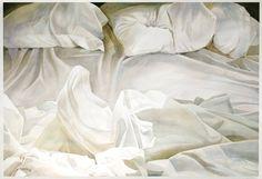 Bed Linen, Linen Bedding, Unmade Bed, Textiles, Equine Art, Ldr, Detail Art, Shades Of White, Morning Light