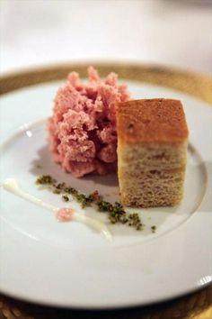 Mortadella foam at Osteria Francescana