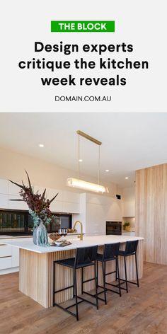 Kitchen Room Design, Modern Kitchen Design, Home Decor Kitchen, Kitchen Living, Kitchen Interior, New Kitchen, Home Kitchens, The Block Kitchen, Kitchen Benches