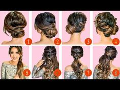 ❌ 10 ELEGANT HOLIDAY HAIRSTYLES & UPDOS ❌   EASY HAIRSTYLE TUTORIAL for LONG MEDIUM HAIR - YouTube
