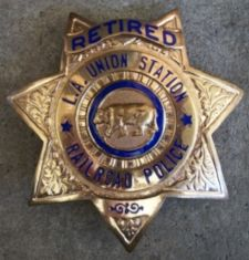 US State of California, Los Angeles Union Railway Station Police Department Badge (Defunct) Police Badges, Air Lines, Union Station, Los Angeles County, U.s. States, Law Enforcement, Patches, Military, California