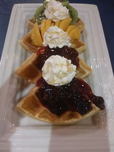 Tutty Fruitty Waffles from Heaven 'n Eggs
