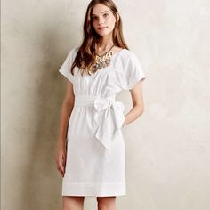 Anthropologie HD in Paris ribbon poplin dress $148 Super cute for the vacation. Completely sold out. Brand new with tags. Anthropologie Dresses Midi