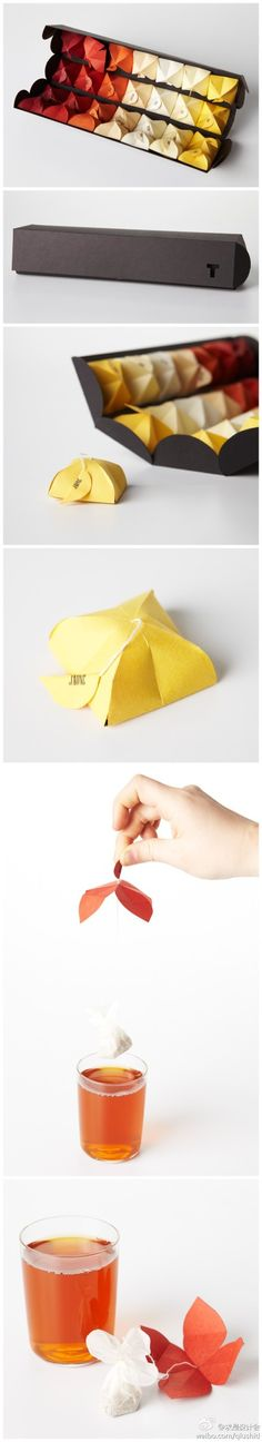 Individually packaged tea bags.  I wish I knew who to credit for this design!!!