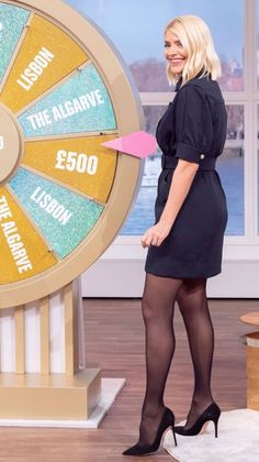 Holly Willoughby Hair, Holly Willoughby Outfits, Beautiful Women Over 50, Beautiful Legs, Pantyhose Outfits, Pantyhose Legs, Weather Girl Lucy, Fashion Tights, Steampunk Fashion