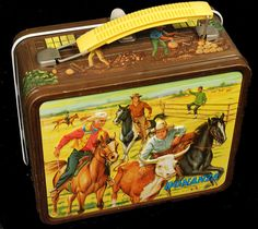 Bonanza Vintage Lunch Box  (Western & Cowboy, 1965 Antique Metal Lunchbox)