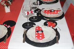 décors de table minnie
