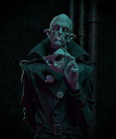 Based on VTM Nosferatu, inspired by Max Schreck's classic vampire Count Orlok. Gothic Horror, Arte Horror, Horror Art, Zombies, Vampire The Requiem, Vampire Masquerade, Chibi, Neon Noir, Vampire Art