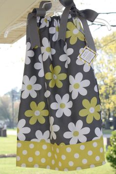 Flower Power Pillow Case Dress by ZiggyStyle on Etsy, $30.00