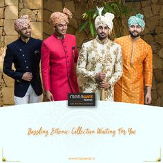 Manawat is an exclusive store and showroom for mens sherwani and other wedding wear like kurta payjama, mens blazer and more. Mens Sherwani, Wedding Sherwani, Wedding Wear, Trendy Wedding, Declaration Of Independence, Stylish Men, Mens Suits, Men's Fashion, Fancy