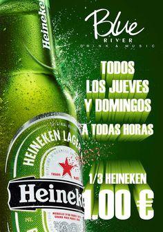 Todos los jueves y domingos, #Heineken a 1 euro #cerveza #oferta
