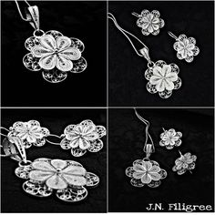 Filigree Jewelry, Silver Filigree, Handmade Silver, Jewelery, Crochet Necklace, Wire, Facebook, Accessories, Quilling