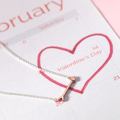 This gift is right on target! Your #Valentine will love our Arrow Necklace in rose gold.