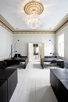 ceiling medallion...chandy...SCANDINAVIAN CHIC: Helle Flou + Kopenhagen Fur