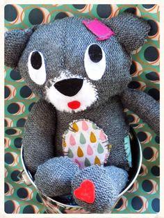 Teddy Bear, modèle original Kas Mazette. Http://www.KasMazette.com et @KasMazette sur facebook