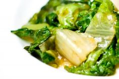 Stir fried lettuce. (For asian: Soy/sesame oil)