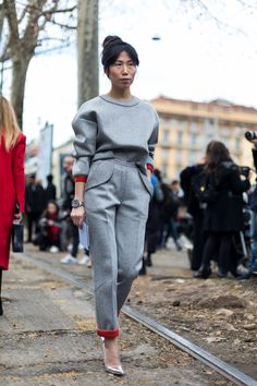 Fashion Week #StreetStyle.  Oksana  on Day 1 at Milan Fahion Week 2015#MFW.