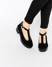a18d0d702392 Park Lane Flatform T-Bar Suede Mid Heeled Shoes T Bar Shoes