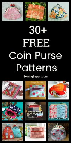Free Purse Patterns for Coin Purses. 30 Free Coin Purse patterns, tutorials, and diy sewing projects. Zipper, snap, and frame styles to sew from fabric. Great diy gift idea for kids. Diy Coin Purse Pattern, Diy Coin Purse Tutorial, Purse Patterns Free, Handbag Patterns, Diy Purse, Pouch Tutorial, Diy Sewing Projects, Sewing Crafts, Diy Bags Purses